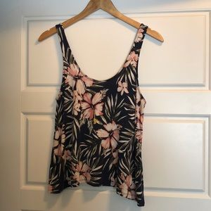 Aeropostale Size Small Floral Tank